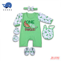 1 Pc Baby Kenaz Jumper Set Girl Lengan Panjang 3-6 Bulan (RANDOM)