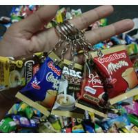 Gantungan Kunci Miniatur Snack Lucu Menarik Murah Cocok Untuk Souvenir