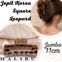 jepit jumbo korea leopard/ jedai glossy korea / jeda ori besar