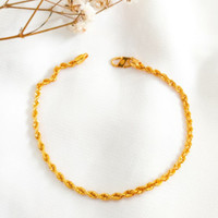 Gelang Wanita Tali Korea ulir Cantik cocok jadi Hadiah Bracelet Gold