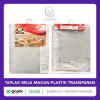 Taplak Meja Makan Plastik Bening Transparan