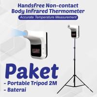 Termometer K3 Thermometer infrared non contact Paket Tripod 2.1m
