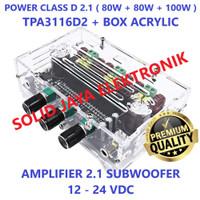 POWER 2.1 CLASS D AMPLIFIER TPA31162D2 PLUS BOX ACRYLIC 2X80W + 100W