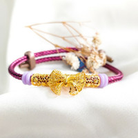 Gelang Wanita Pandora Bunga Cantik cocok jadi Hadiah Bracelet Gold