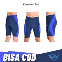 Celana Renang Pria | Celana Renang Dewasa Jumbo - Biru, S