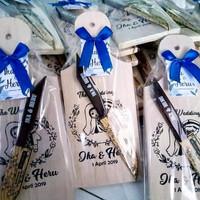 sovenir souvenir talenan kayu set pisau sovenir pernikahan