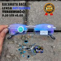 kacamata plus untuk baca dengan lensa anti radiasi blueray free box