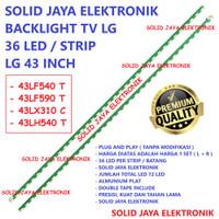 BACKLIGHT TV LG 43 INC 43LF540 43LF590 43LX310 LAMPU BL 36 LED INCH