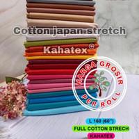 multi kain full cotton katun stretch kahatex spandex roll an 50 yard