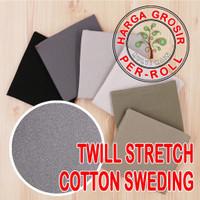 multi kain cotton katun twill stretch 9 oz chinos roll per 50 yard