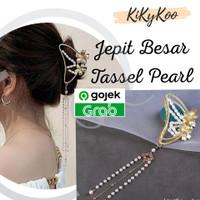 jepit tassel princess / jepit bunga besar / jepit bunga tassel