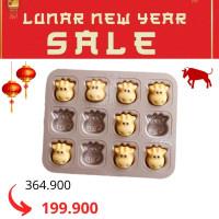 Loyang Kue Sapi 12 Lubang / Cows Cake Pan Chefmade - WK9788