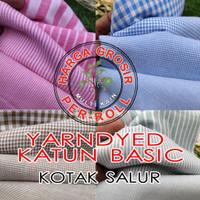 multi kain cotton katun salur kotak basic roll per 50 yard warna muda