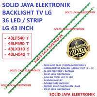BACKLIGHT TV LG 43 INC 43LF540T 43LF590T 43LX310C LAMPU BL 36 LED 43LF