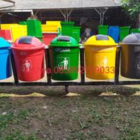 #tempat sampah pilah 5, dengan parian warna