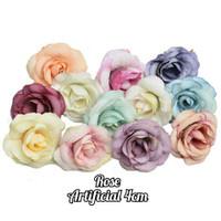 bunga artificial rose kuntum / kuntum bunga peony / bunga kain