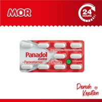 PANADOL Extra Paracetamol Pereda Sakit Kepala Merah Kaplet 10s