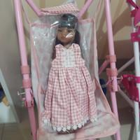 Boneka Paola Reina Meili set Dress Bandana cantik