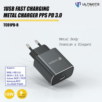 Charger iPhone 11 Pro Max Fast 18W PPS PD 3.0 Ultimate TC01PD-R