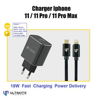 Charger iPhone 11 Pro Max Fast 18W Ultimate TC01PD-R + Cable CTL120