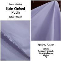 Kain Oxford Warna Putih