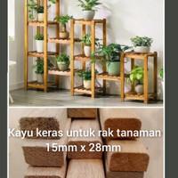 Jati putih 15 x 28mm kayu strip lis kayu keras rak tanaman / kerajinan