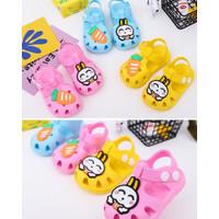 Sepatu Sandal Sendal Anak Laki Laki Perempuan Kelinci Lucu Import - Kuning, 22