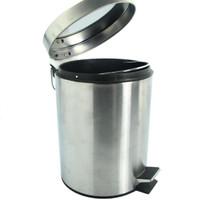 Krisbow tempat sampah stainless round satin finish 5 Liter