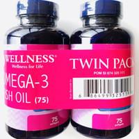 wellness omega 3 fish oil 1000mg 75softgels EPA & DHA minyak ikan
