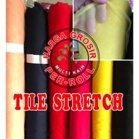 Multi Kain Tile Tulle Tule stretch spandex lebar 150 roll per 50 yard
