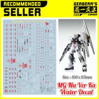 Water Decal MG Nu Ver Ka Gundam Decal
