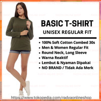 Kaos Polos Soft Cotton Combed 30s Unisex Regular Fit Long Sleeve - S