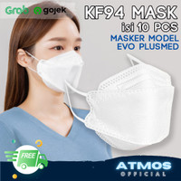 Masker KF94 Korea model Evo Plusmed isi 10 pc Disposable