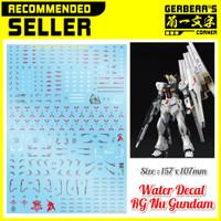 Water Decal RG Nu Gundam Decal