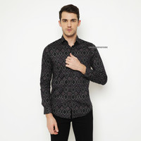Kemeja Batik Songket Pria Lengan Panjang / Baju Batik Cowo Formal
