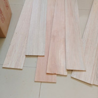 Kayu balsa sheet 4mm x 13cm kayu maket balsa keras lebar