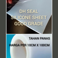 DHSEAL Silicone rubber sheet 2mm 10cm x 100cm karet silikon food grade