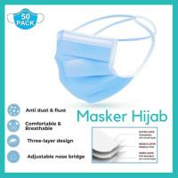 [IMPORT HIJAB] MASKER HEADLOOP HIJAB 3 PLY MURAH