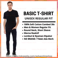 Kaos Polos Pria Cotton Combed 30s Regular Fit Round Neck Short Sleeve - S