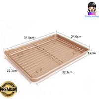 Loyang Biskuit + Rak / Cookie Sheet + Cooling Rack Chefmade - WK9267 - WK9267