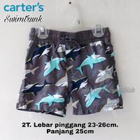 Swimtrunk celana renang anak branded grey shark 2 tahun