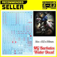 Water Decal MG Barbatos Gundam Decal