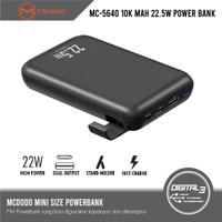 Mcdodo MC-5640 22.5W 10,000mAh Powerbank + Phone Holder QC PD SFC VOOC