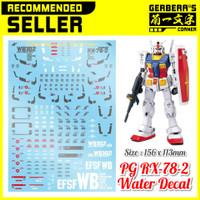 Water Decal PG RX-78-2 Gundam Decal
