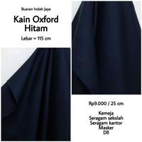 Kain Oxford Hitam lebar 115 cm