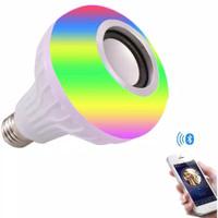 Lampu Bohlam LED Speaker Bluetooth RGB Plus Remote Magic Bulb 9watt