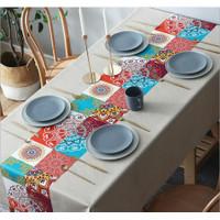 Premium Bohemian PVC Table Cloth / Taplak Meja Makan Waterproof