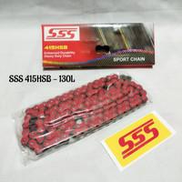 Rantai SSS 415 130 HSB Merah / Rantai SSS Satria Ninja Vixion