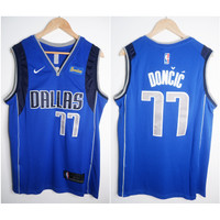 JERSEY BASKET NBA DALLAS #77 LUKA DONCIC BIRU 19/20