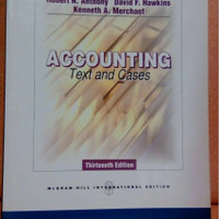 buku accounting text and cases 13th edition